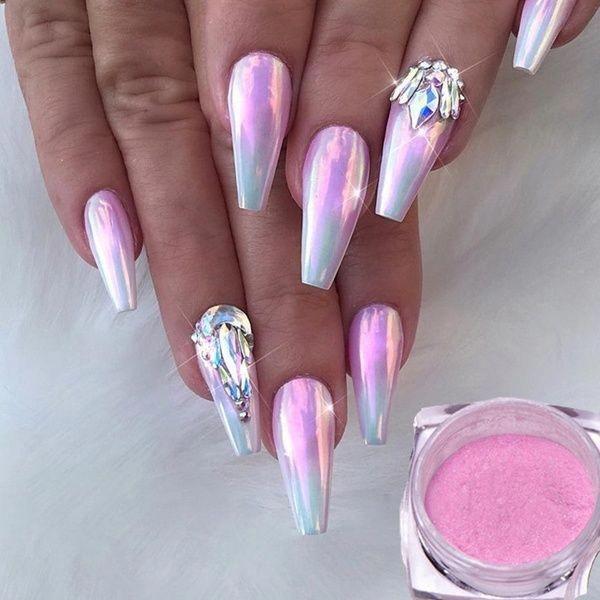12 Colors Rainbow Opal Aurora Neon Powders Chrome Mirror Effect Mermaid Pigment Cosmetic Nail Glitter Art Decoration   Wish