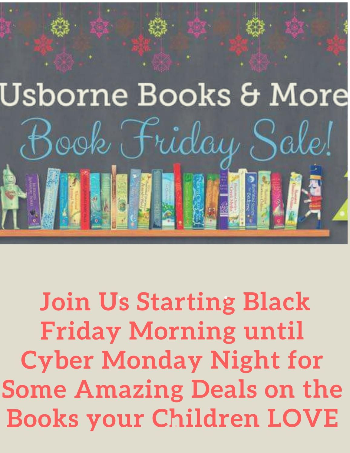 Black Friday Event Usborne Books Consultant Usborne Books Usborne Books Party