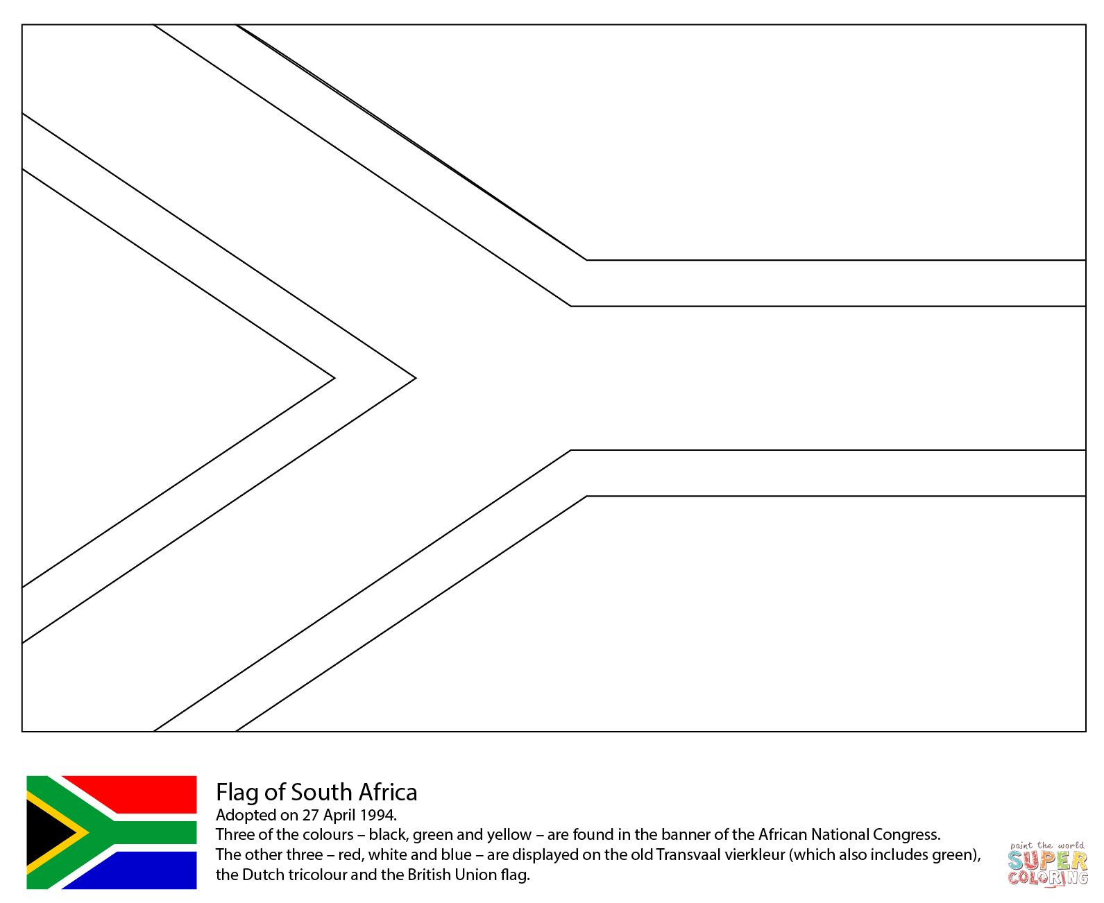 Vlag Van Zuid Afrika