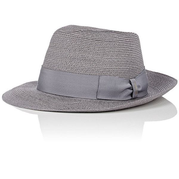 943a4be046026c Borsalino Men's Hemp Fedora ($139) ❤ liked on Polyvore featuring men's  fashion, men's