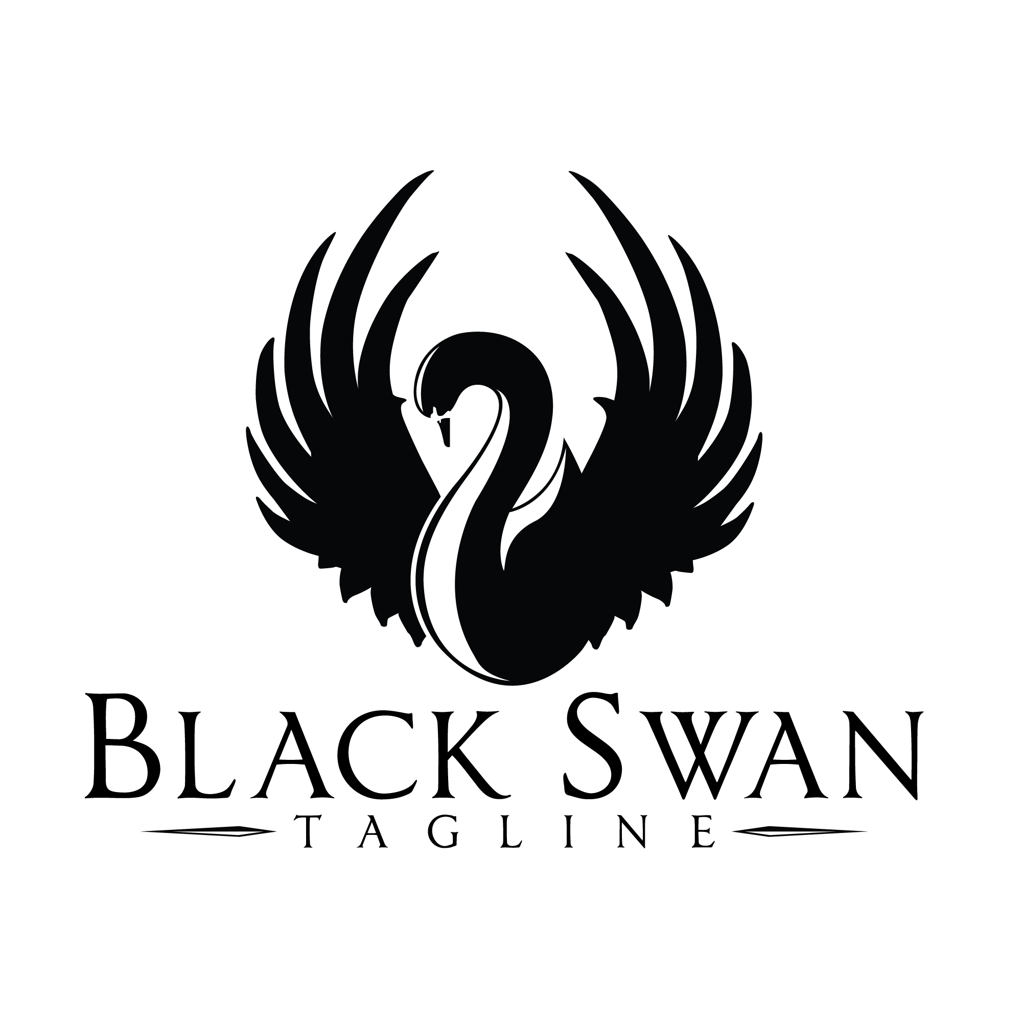 Black swan logo. Swan drawing, Black swan, Black swan tattoo