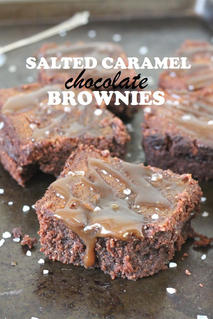 Flourless Salted Caramel Chocolate Brownies. Gluten free, dairy free, refined sugar free...guilt free!