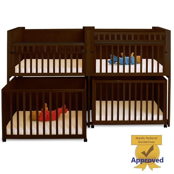Four Unit Infant Daycare Bunkie Crib Stacking Cribs Stackable