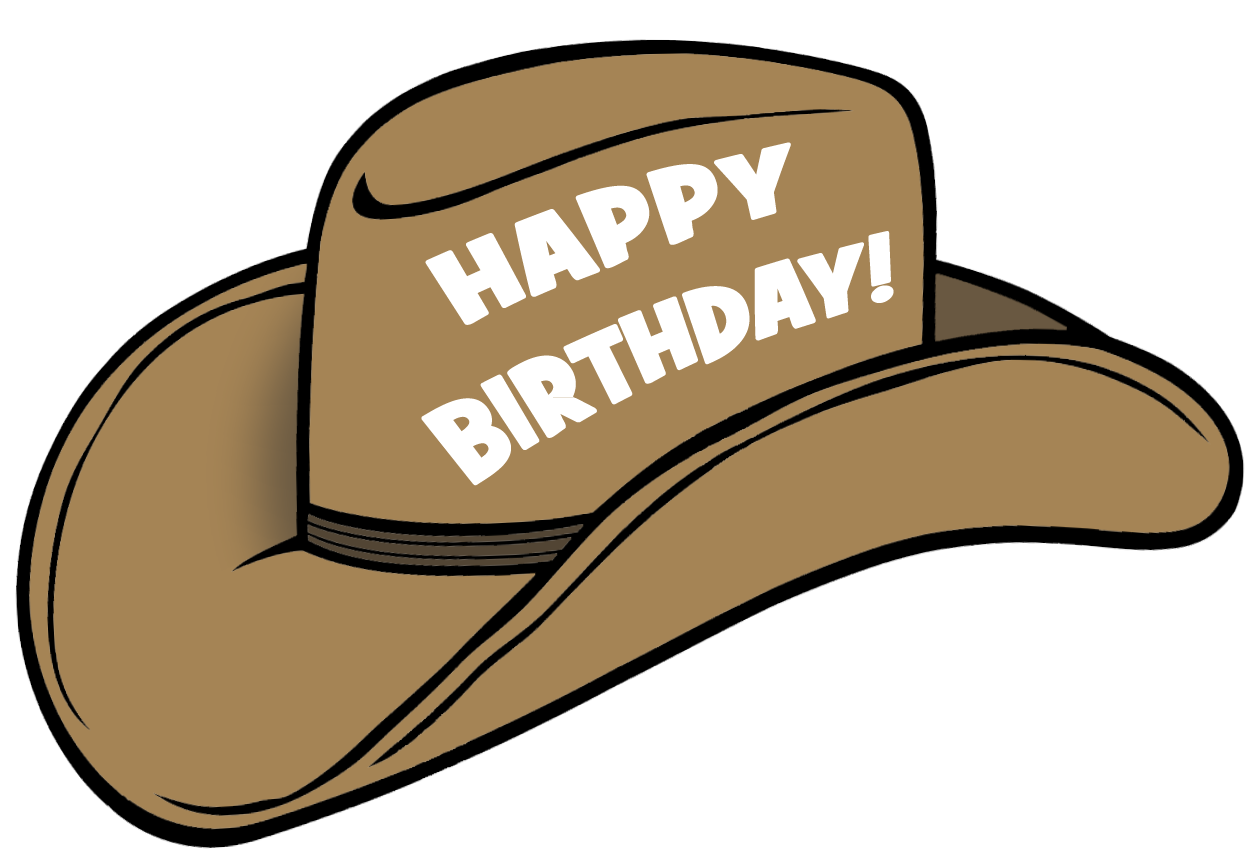 Best Birthday Hat Png 3573 Clipartion Com Happy Birthday Cowboy Happy Birthday Wishes Cards Happy Birthday Cowgirl