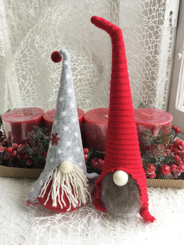 2 Handmade Swedish Tomte Nisse Santa Handmade Scandinavian Etsy Scandinavian Christmas Trees Scandinavian Christmas Christmas Tree Decorations