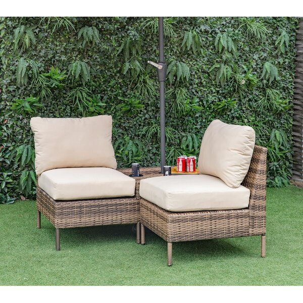 Best Sevigny Outdoor 2 Piece Sofa Set With Cushions Sofa Set 400 x 300