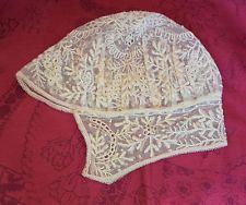 6cb5ea3aad1 Ancien Bonnet de Baptême XIXe Dentelle de Calais Lace Baptism Hat Coiffe  Bébé