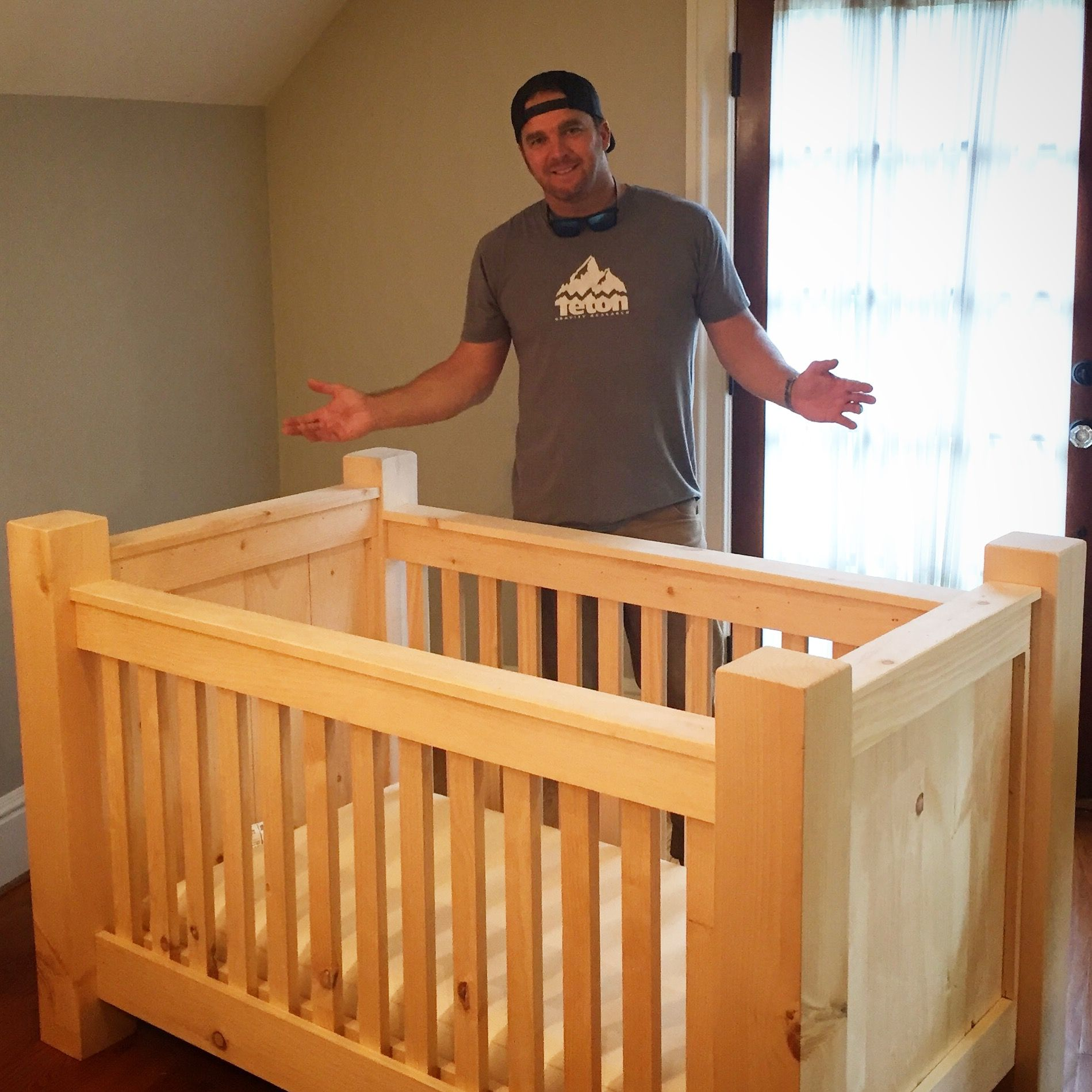 My Rustic Homemade Diy Baby Crib For Our Dudes Mountain Ski Themed