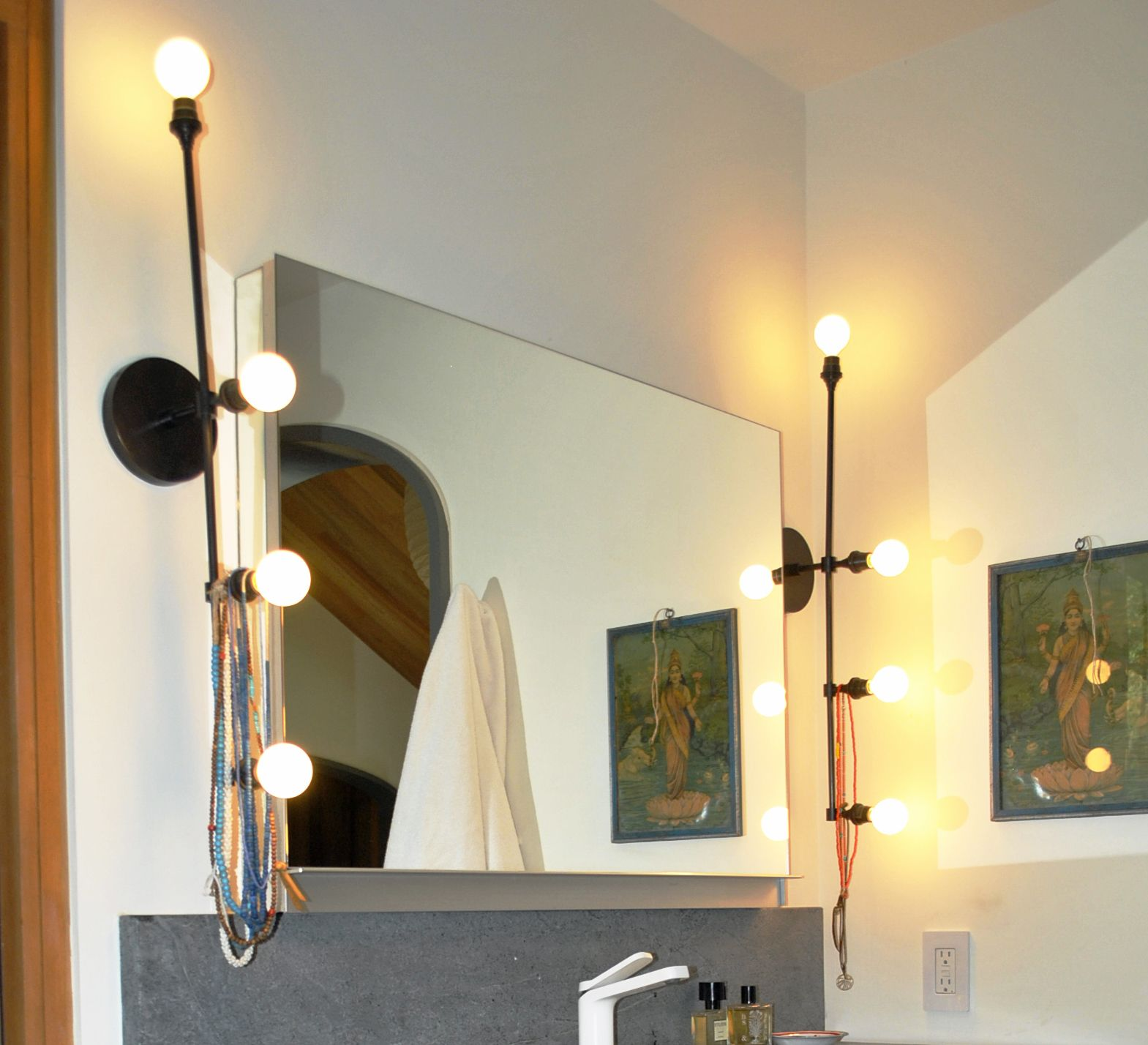 bathroom brilliant lights mirror also with fixtures modern contemporary sconces from cabinets light lighting rich unique vanity wall monocle sconce