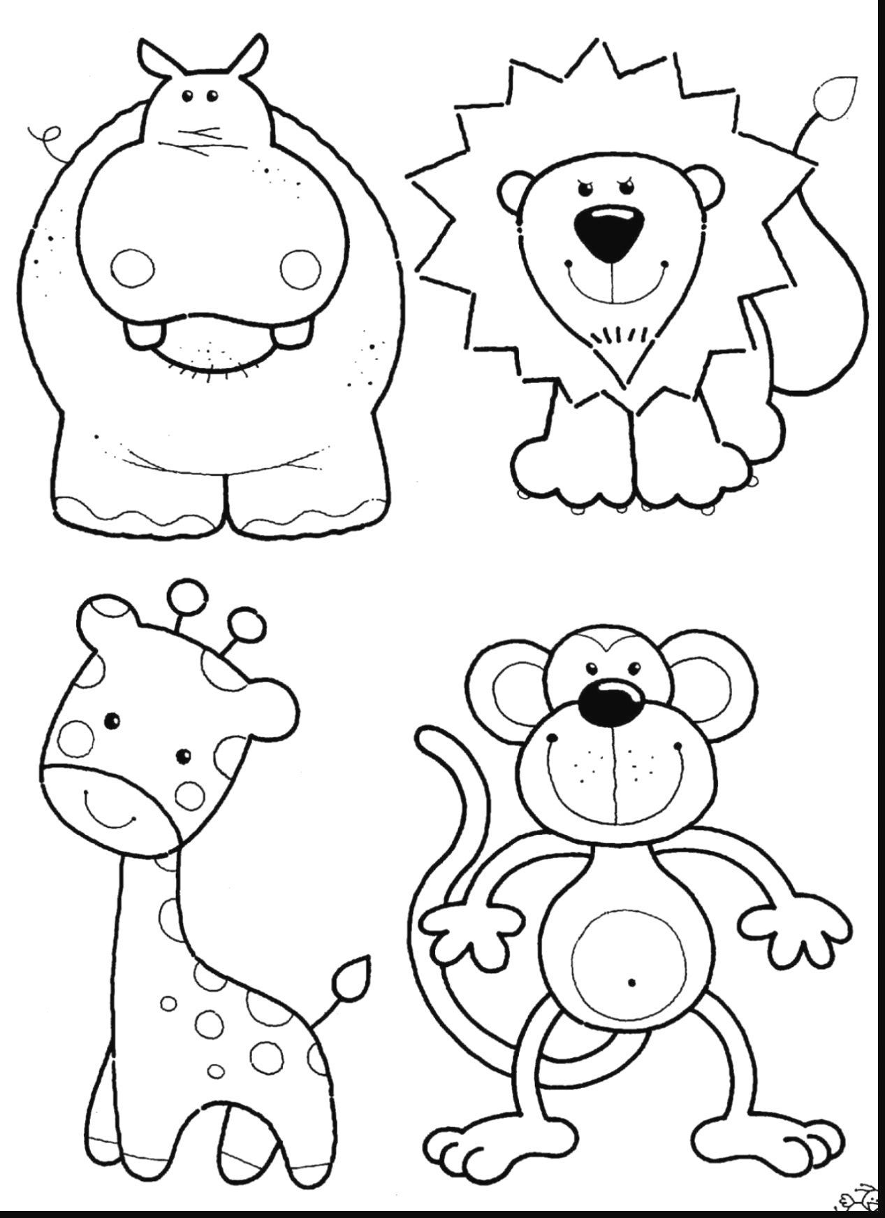 Zoo Animals Coloring Pages Zoo Animal Coloring Pages To Print