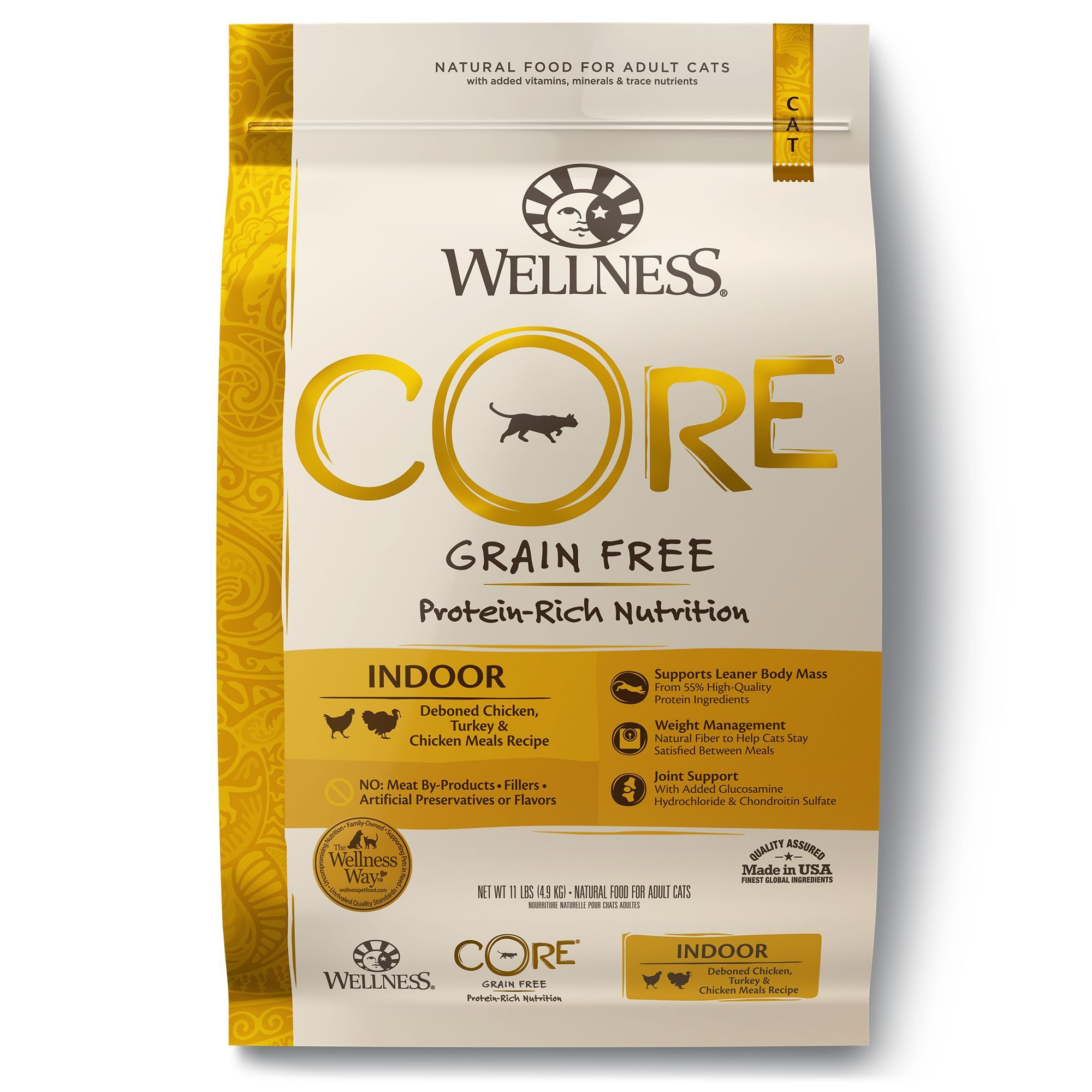 Wellness Core Indoor Adult Cat Food Natural Grain Free Chicken