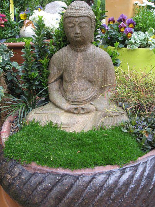 Container Garden Ideas Eden Makers Blog By Shirley Bovshow Meditation Garden Buddha Garden Zen Garden