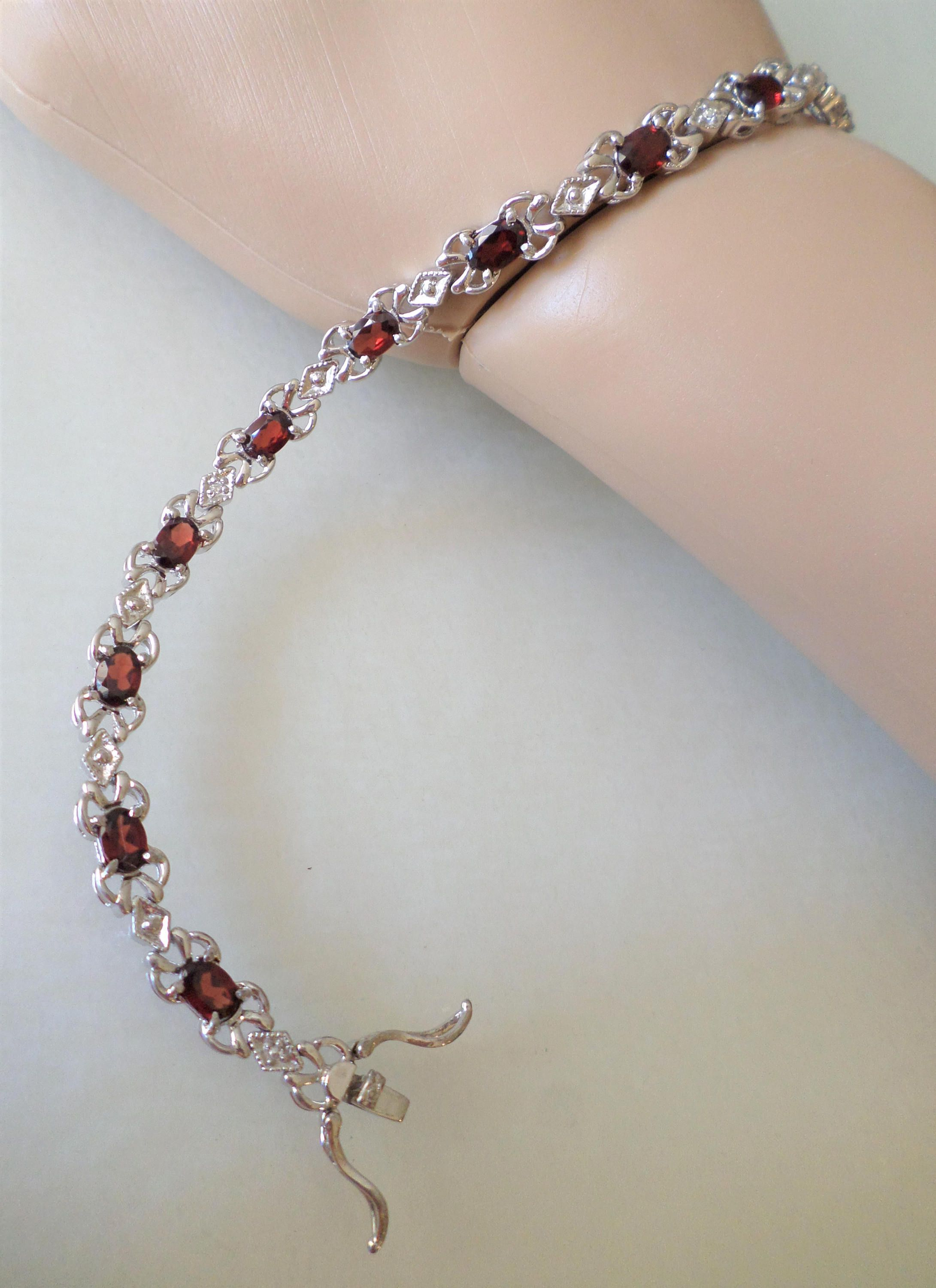 gold bracelet rose products tennis sparklingjewellery com anklet