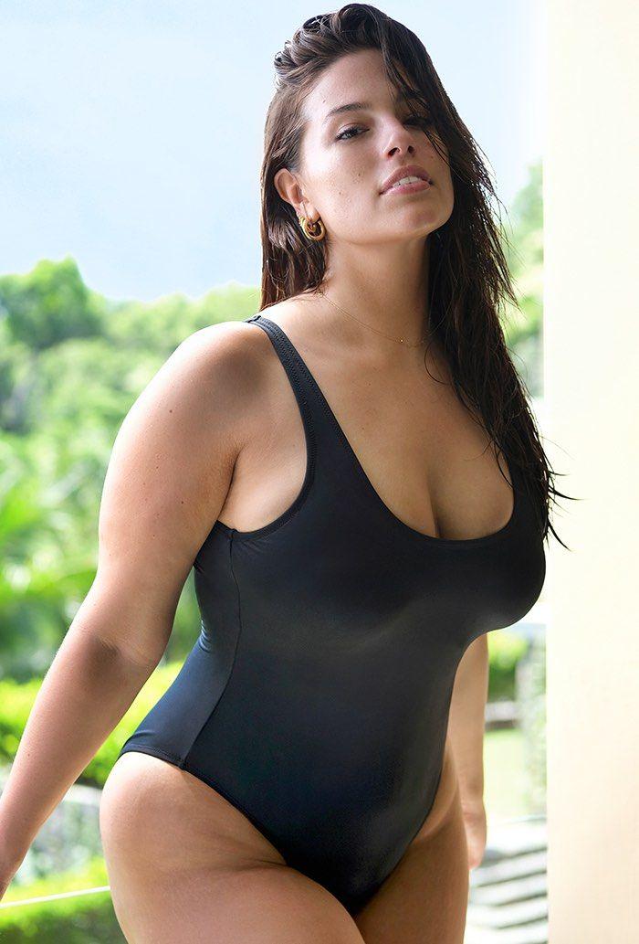 d9ce21f55fdd4 s4a Ashley Graham x Plus Size Swimsuits For All Hotshot Plus Size Swimsuit,  Size 20, Black