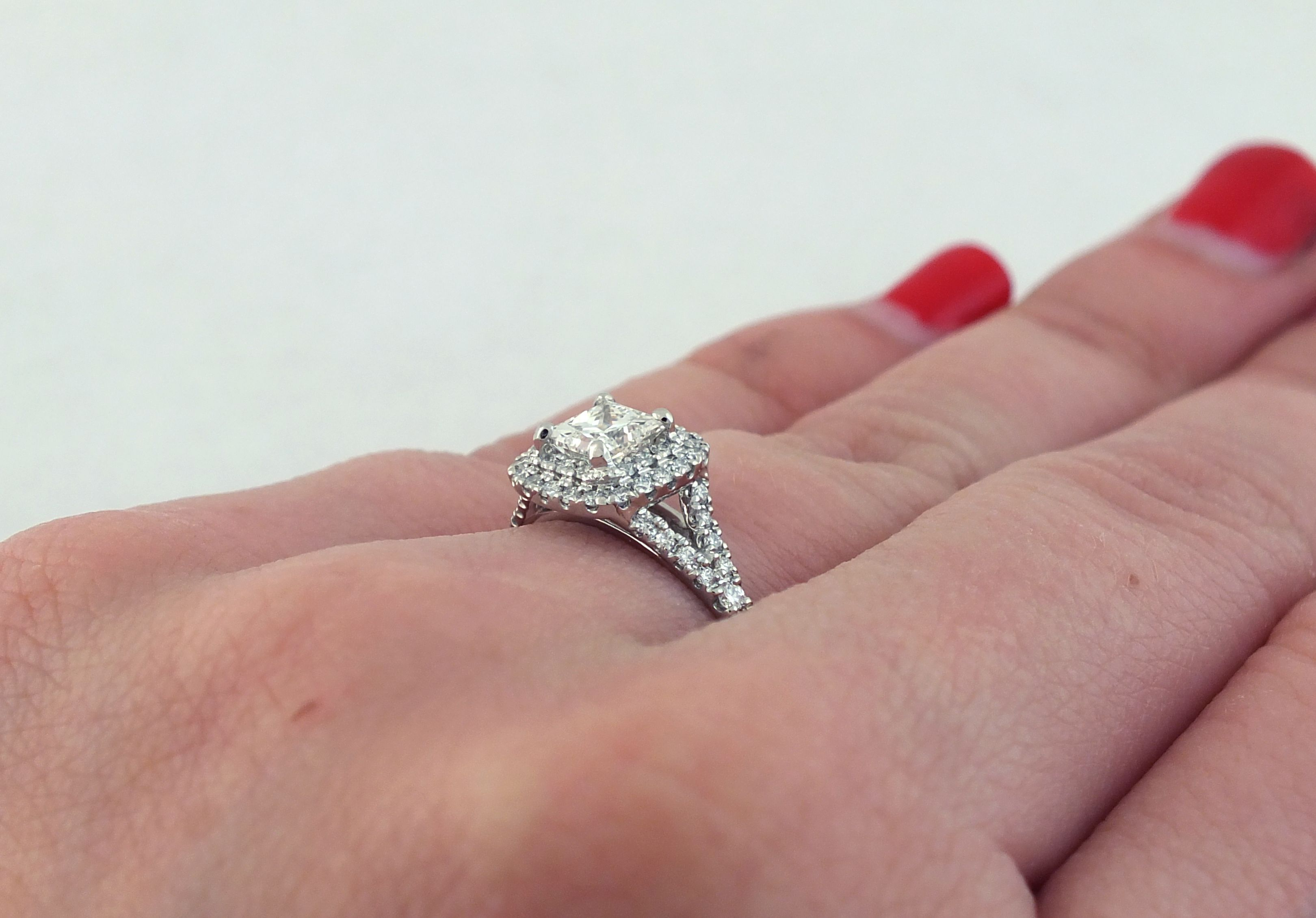 Cushion Cut Diamond Engagement Ring | My Favorite Rings | Pinterest