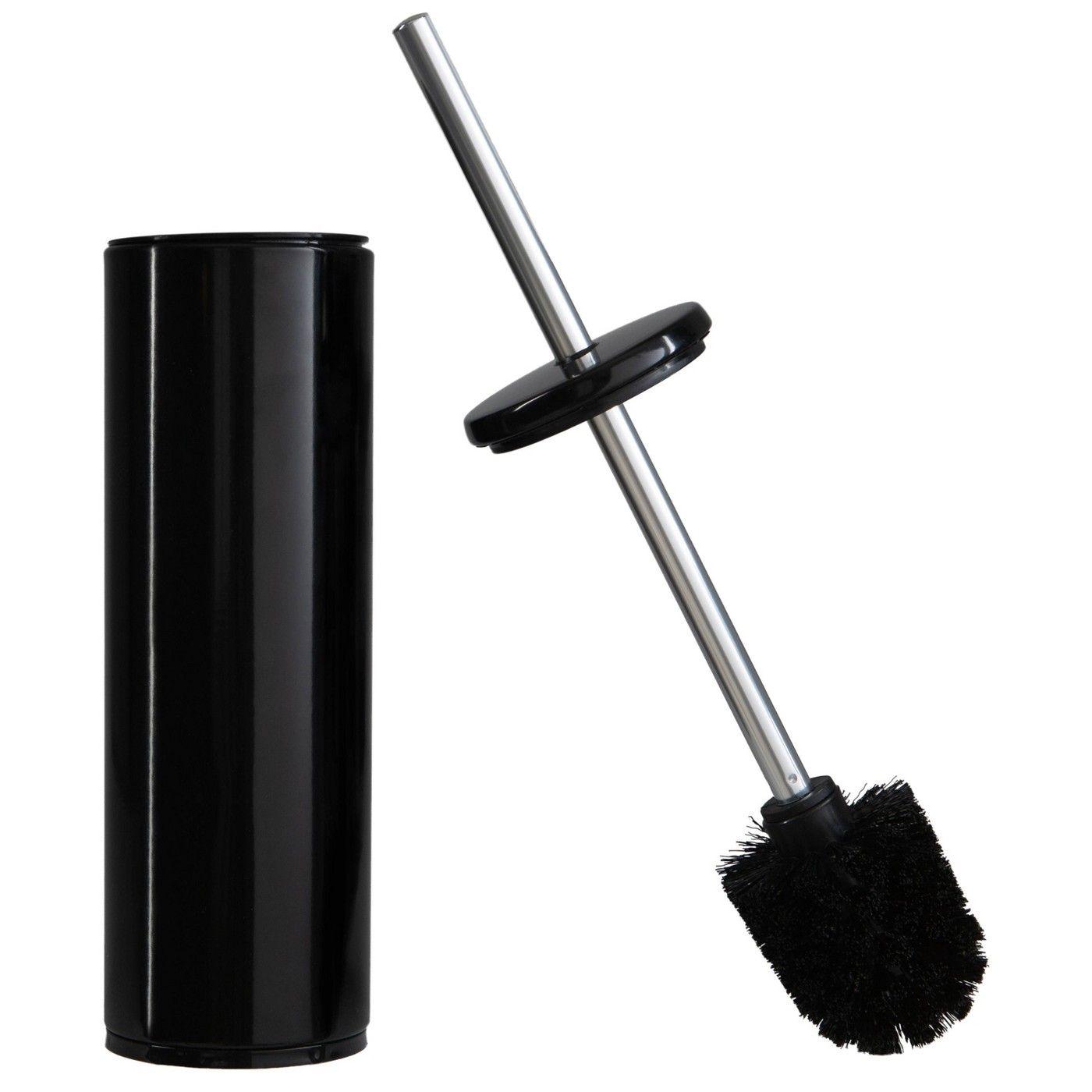 Reinforced Handle//Nylon Bristles White PREMIUM Toilet Bowl Brush /& Holder Set