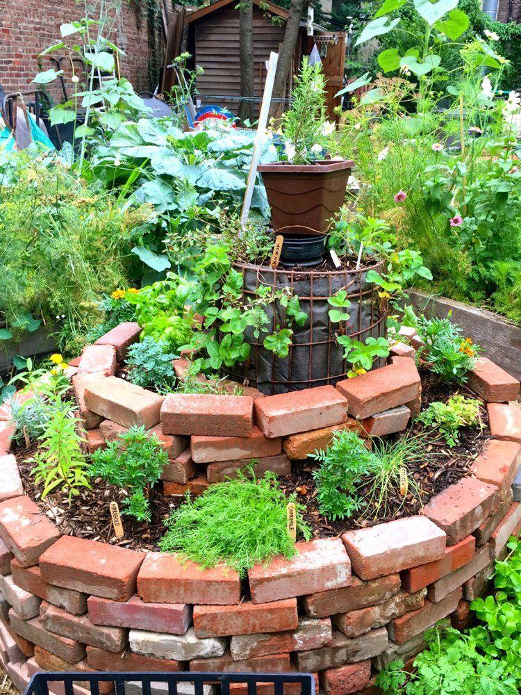 Amenagement Jardin Creez Votre Spirale D Herbes Aromatiques Garten Landschaftsbau Permakulturgarten Gemusehochbeet
