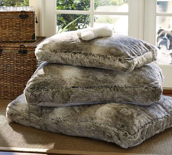 Faux Fur Dog Bed Cover Pottery Barn For The Love Of