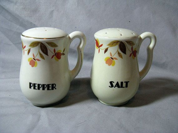 Vintage Jewel T Autumn Leaf Range Salt & by TheInstantMemory