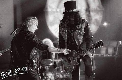 Axl & Slash on the set of Sweet Child O' mine, Guns N' Roses, late ...