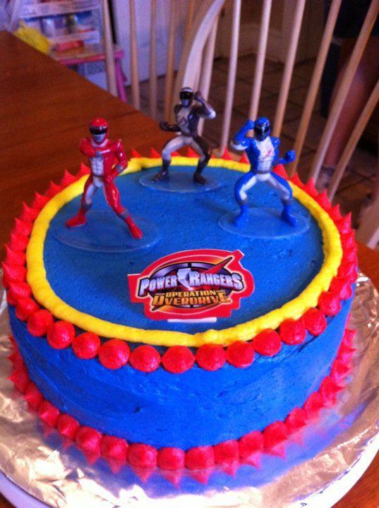 Power Ranger Birthday Cake Cakes And Stuff Pinterest Power