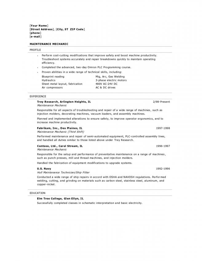 Heavy Equipment Resume Diesel Mechanic Examples Sample Template Free Word Pdf Document Downloads Resume Resume Examples Sample Resume