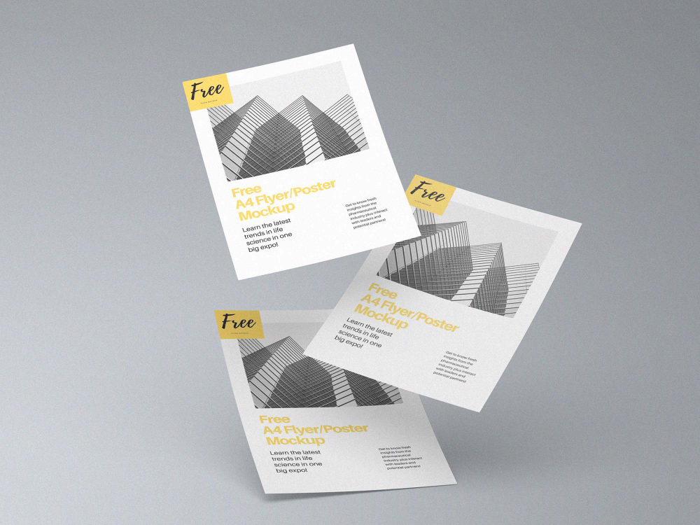 Free A4 Flyer And Poster Mockup Psd Poster Mockup Psd Poster Mockup Flyer Mockup