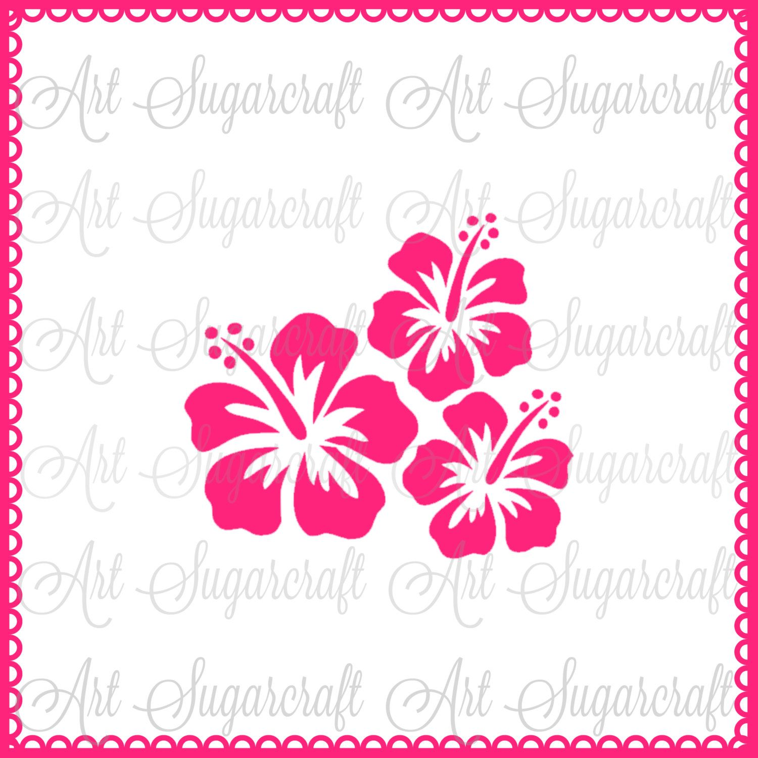Hibiscus tropical flower stencil nb1588 tropical flowers hibiscus hibiscus tropical flower stencil nb1588 izmirmasajfo