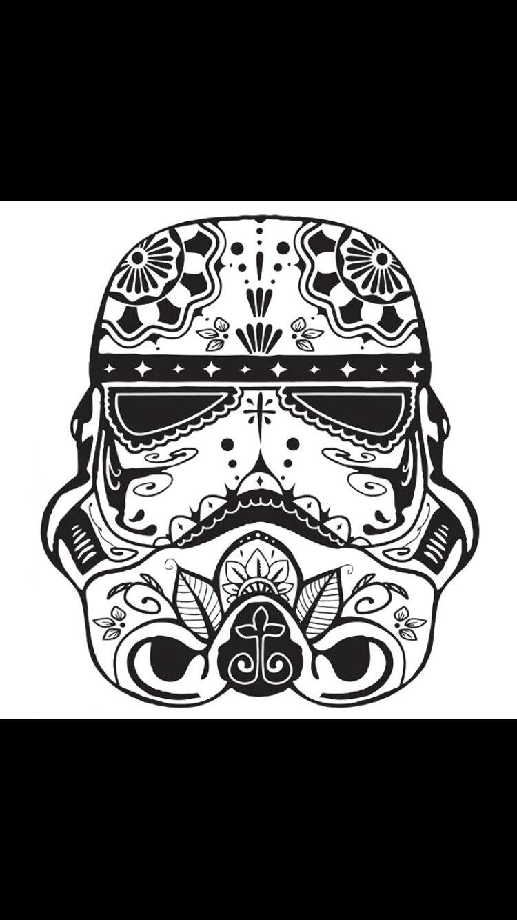 Star Wars Star Wars Tattoo Star Wars Art Skull Coloring Pages
