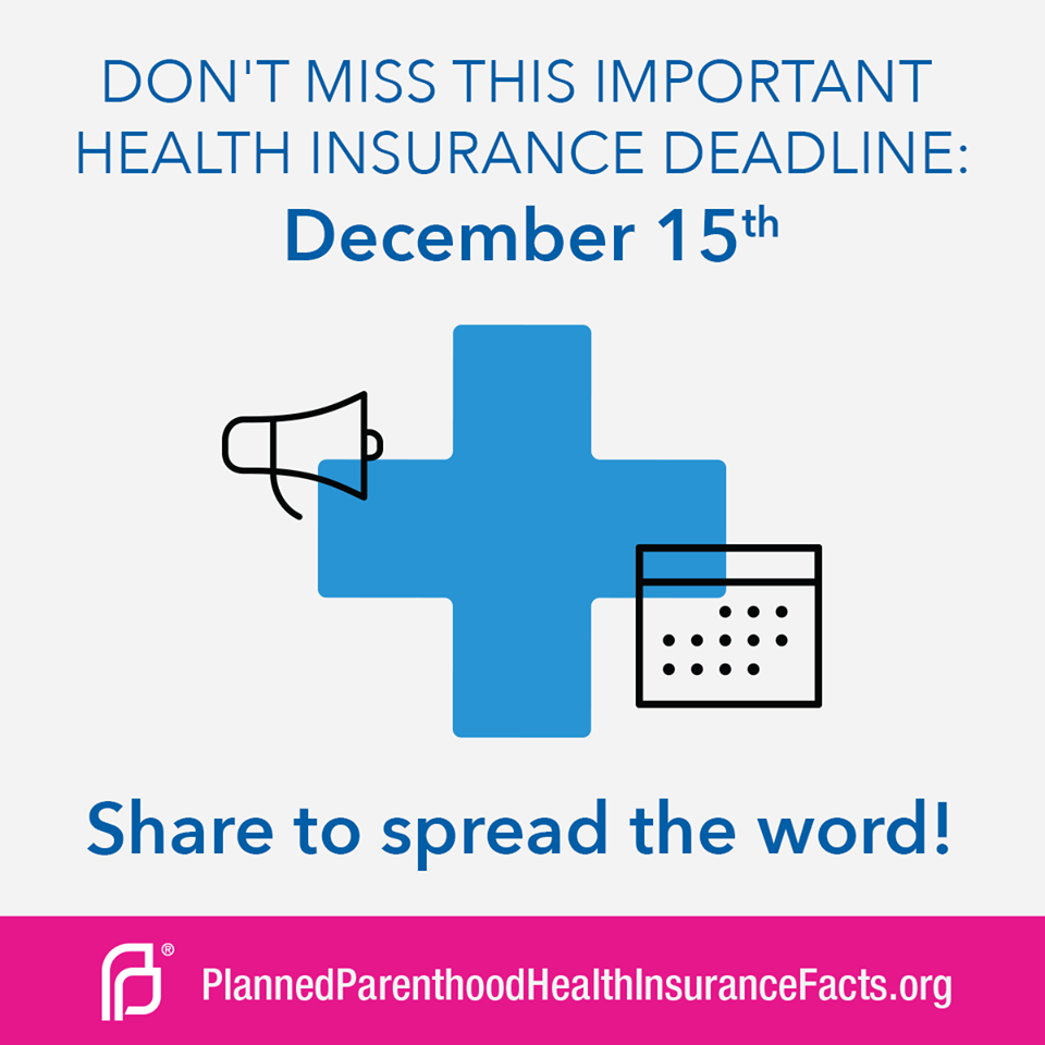 Heads Up If You Want Health Insurance Starting January 1 You