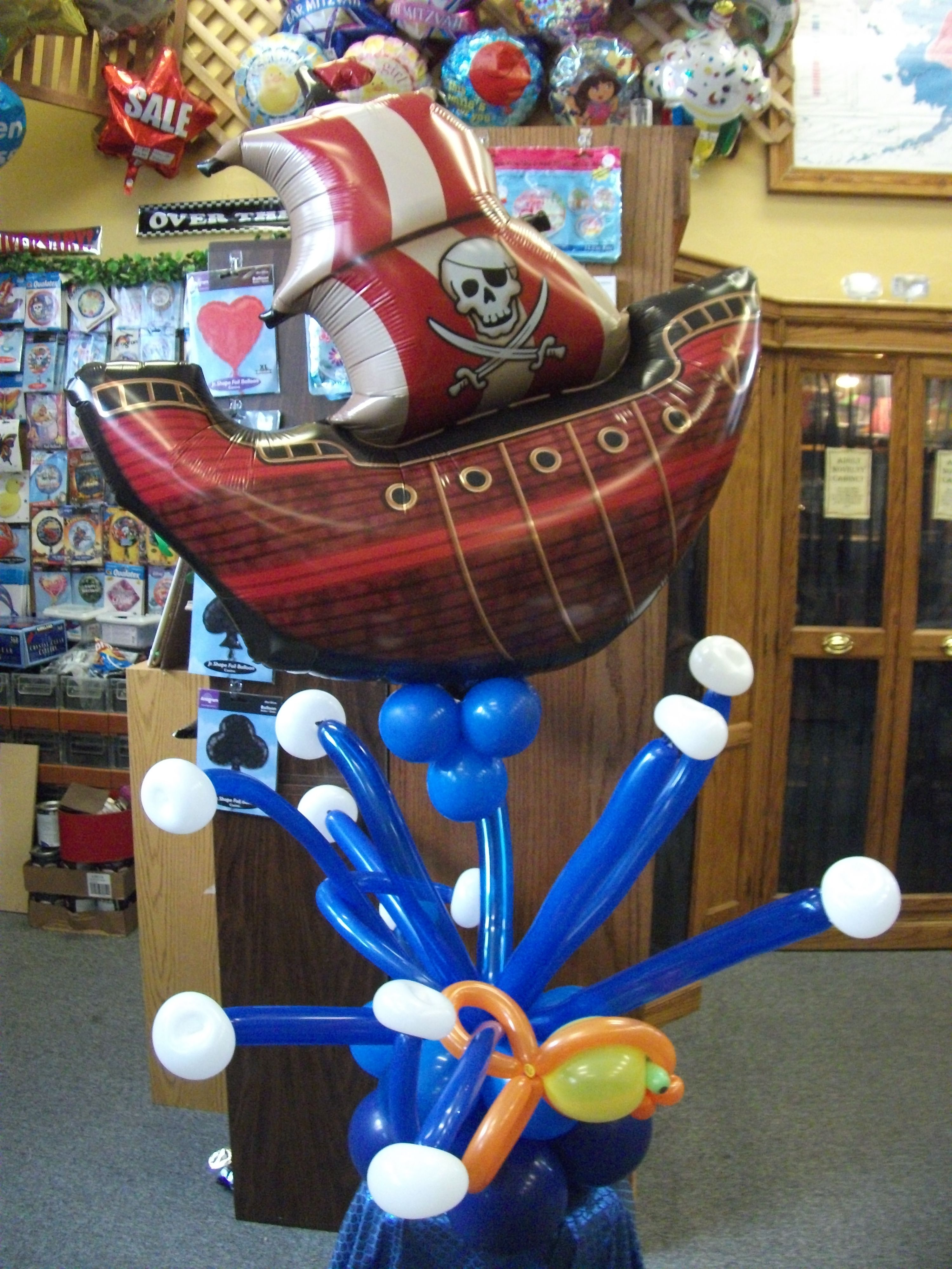 Balloon Pirate ship on the water by Balloons by Night Moods in Juneau, Alaska