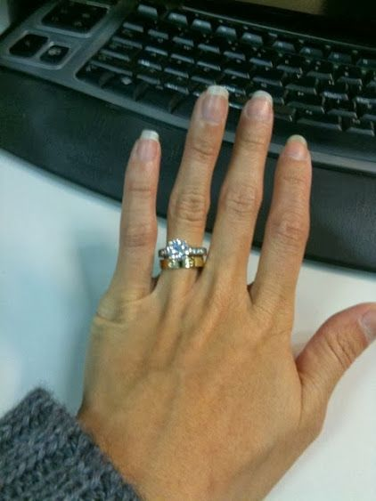 Gold Cartier Love Ring With Rb G Vs1 Diamond In A Palladium Band In 2020 Cartier Love Ring