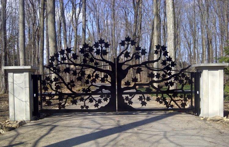 Resultado de imagen de portail fer forgé arbre | Portes de ...