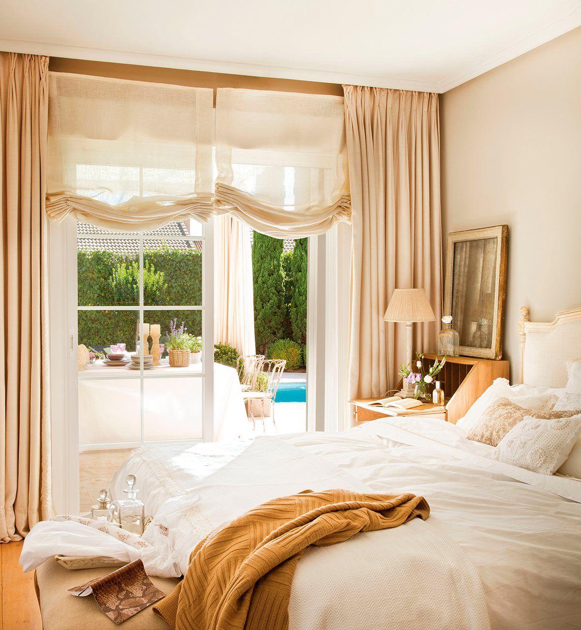 Y el ganador del cambio de look es el dormitorio for Cortinas vintage dormitorio