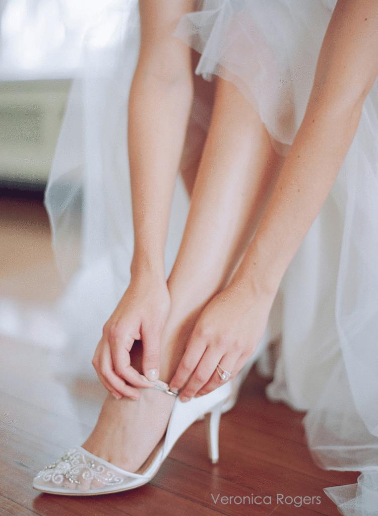 May Beaded Ivory Low Heel Wedding Pump Wedding Pumps Wedding