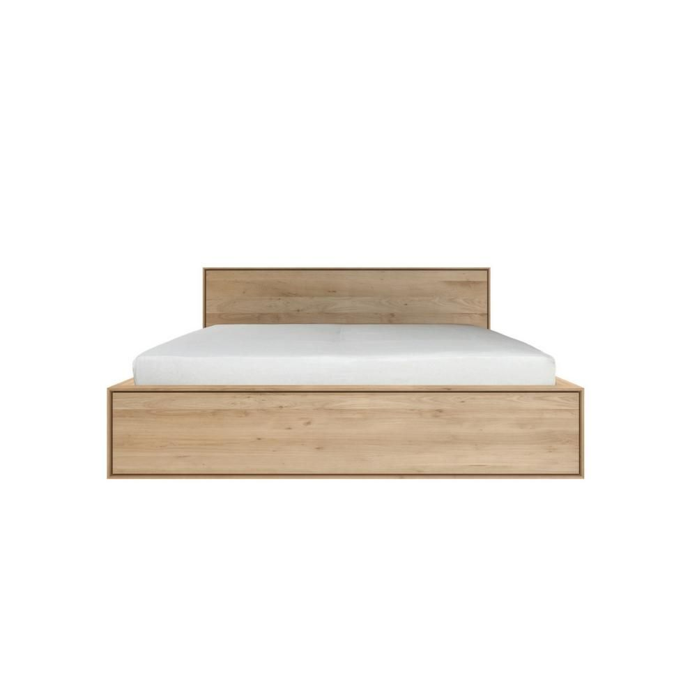 Ethnicraft Oak Nordic II Bed with Drawers