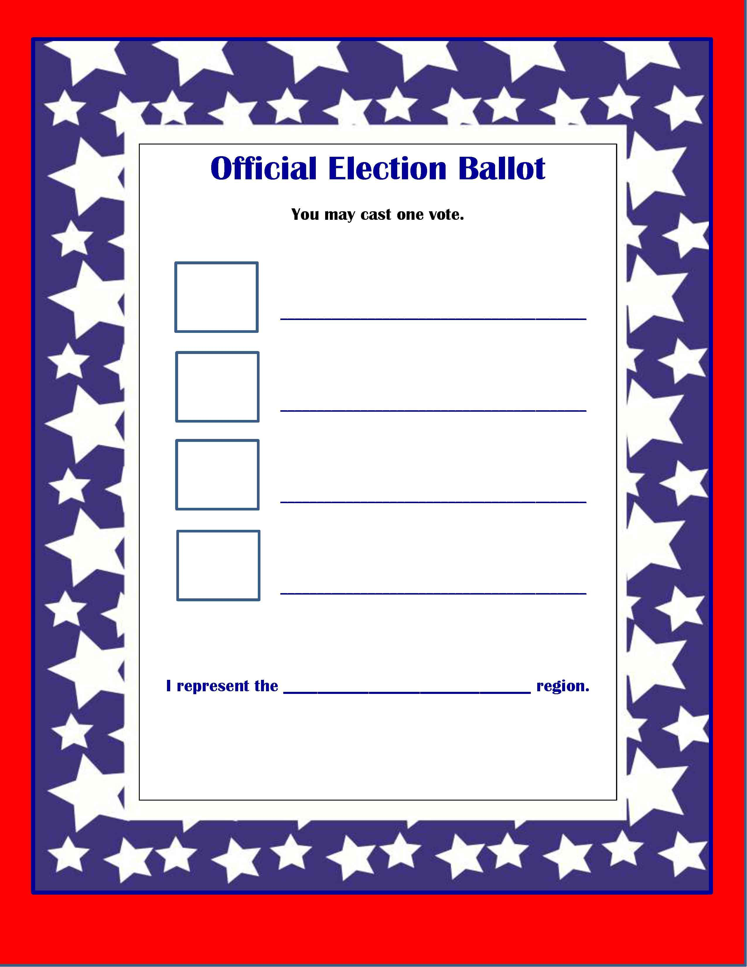 presidential mock election activities for kids | just b.CAUSE