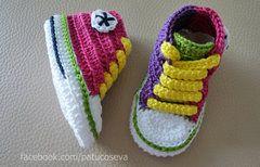 Patucos Mini converse CRAZY GIRL | Zapatitos crochet