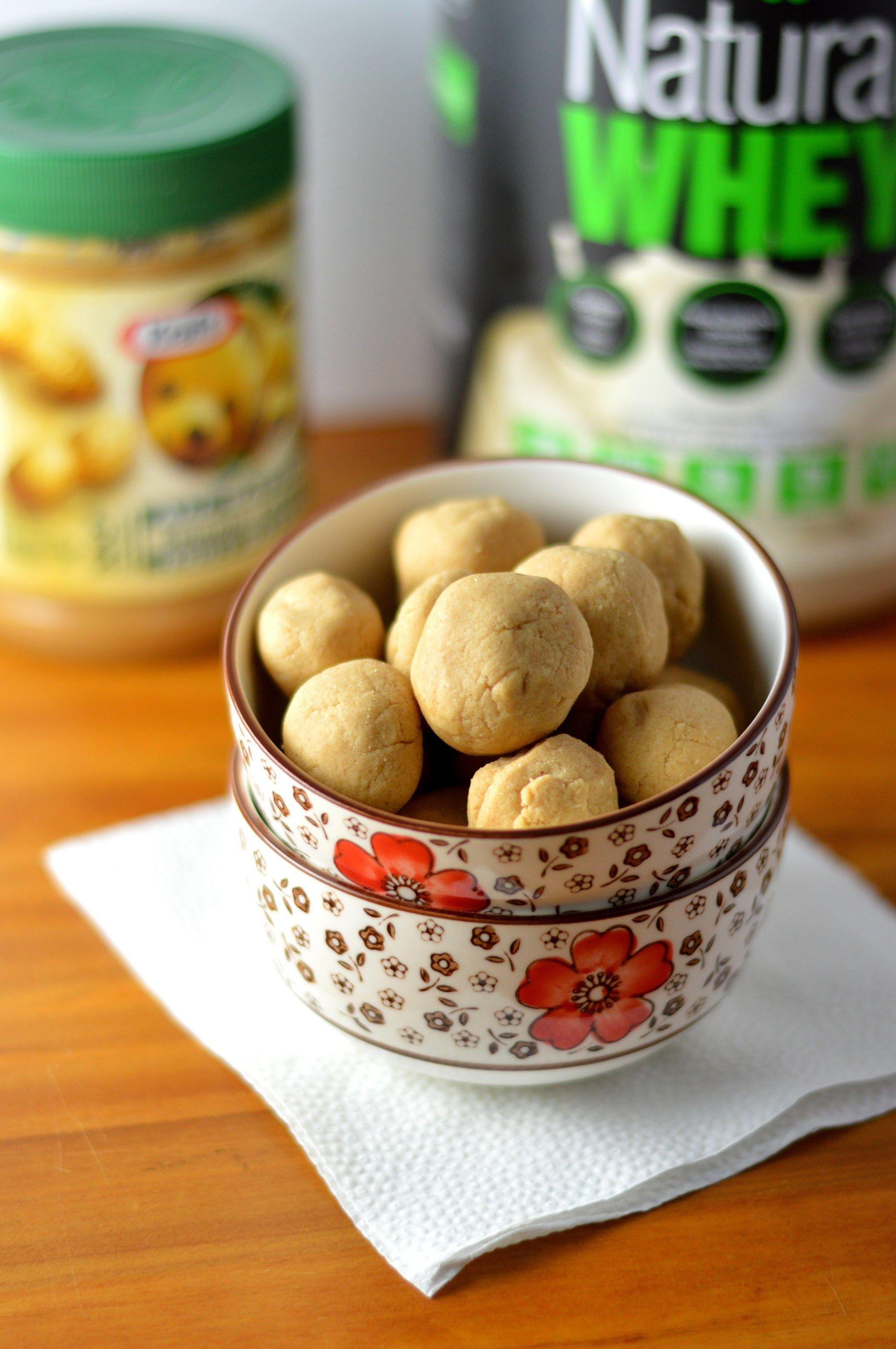 Peanut Butter Protein Balls #wheyproteinrecipes