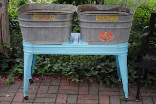 Vintage Double Wash Tub On A Stand Vintage Wedding Ideas Galvanized Wash Tub Galvanized Tub Wash Tubs