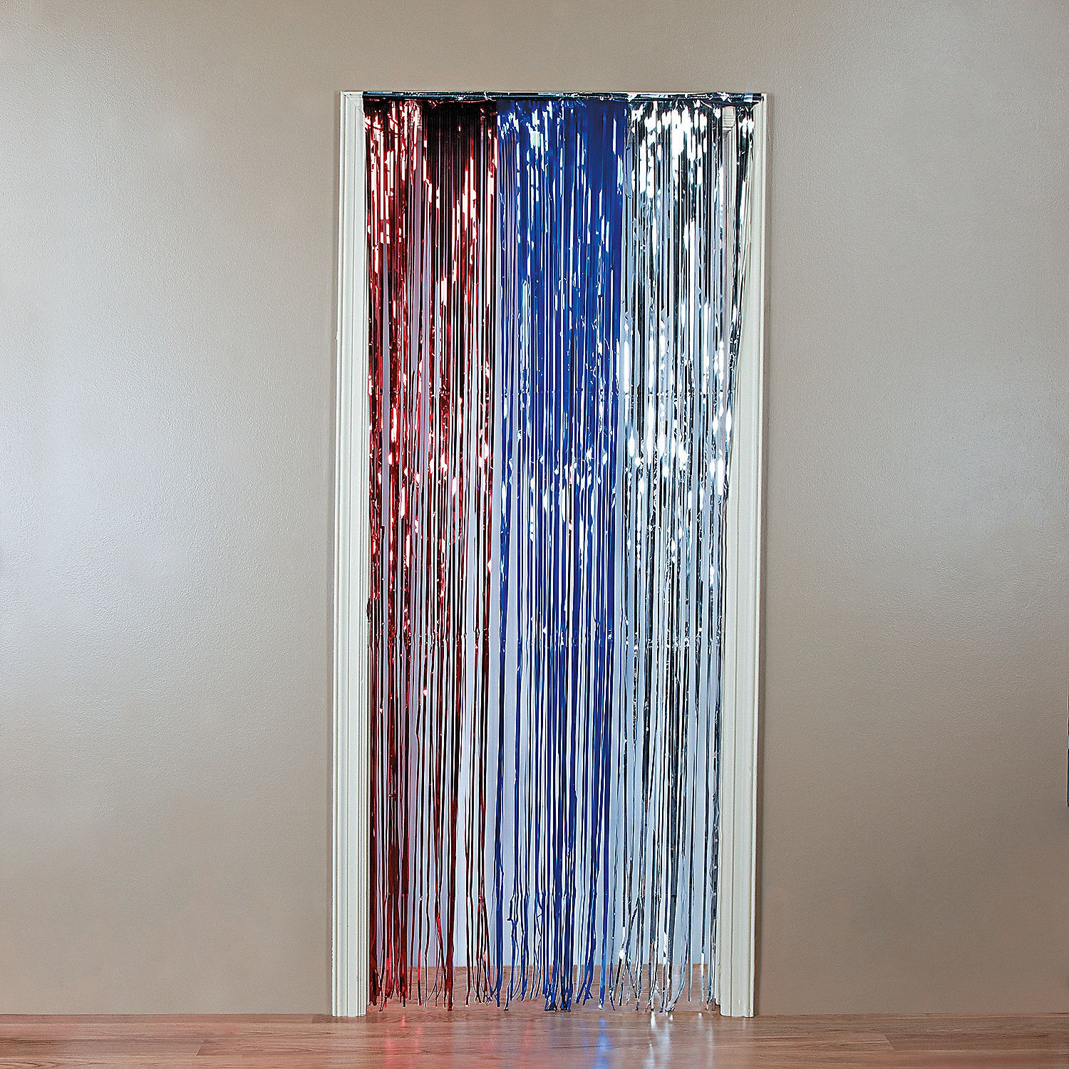 Foil Patriotic Door Curtain Curtains Door Curtains 4th Of July Decorations