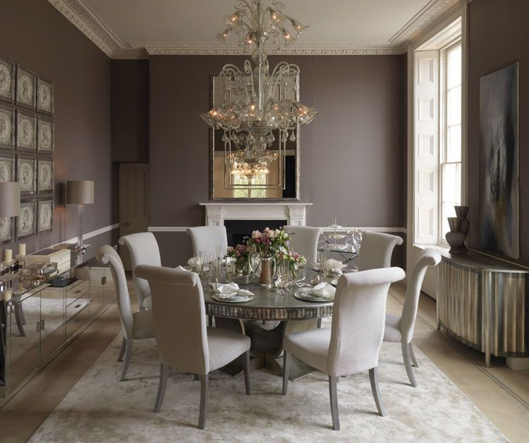 Salle A Manger Gris Taupe: Taupe Walls With Antique Mirroring