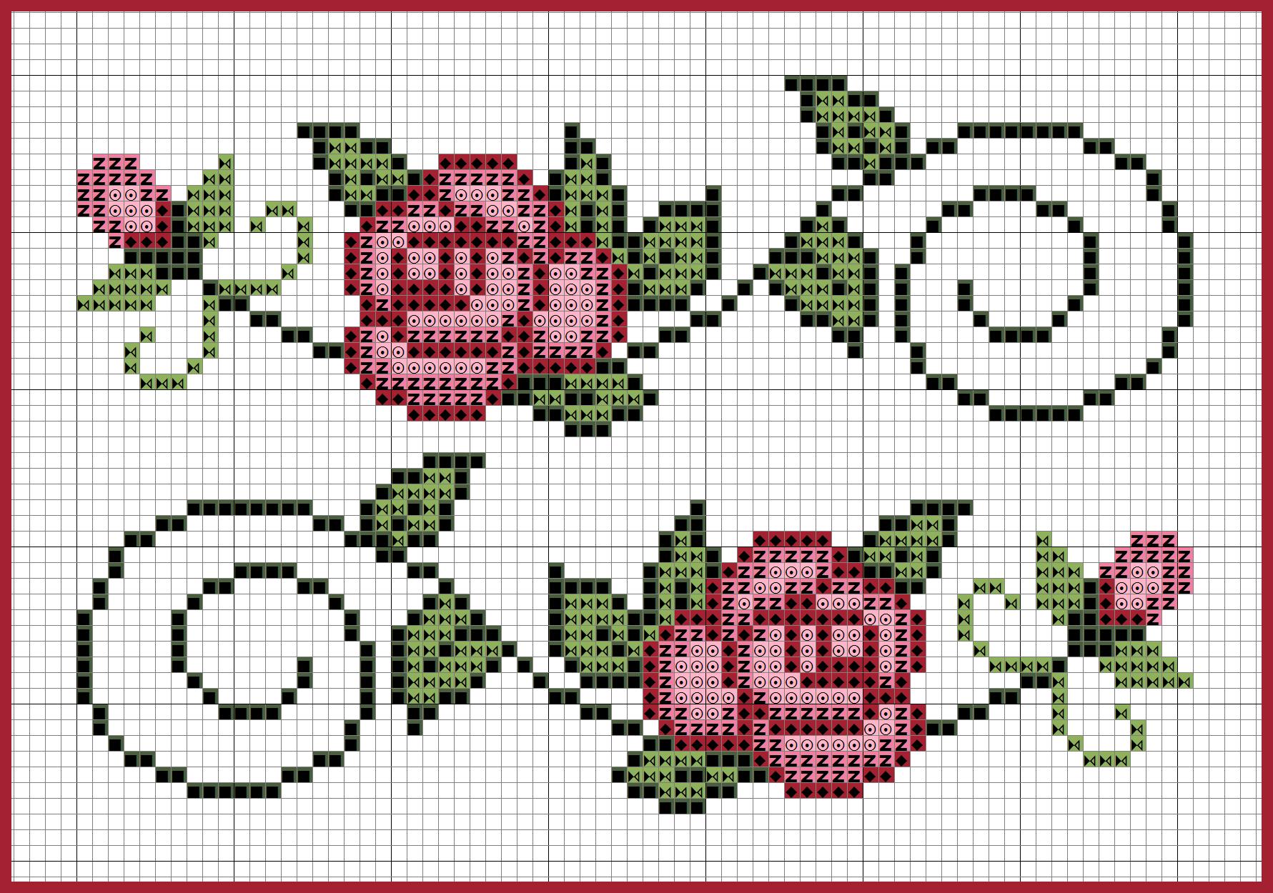 Gráfico de rosas em ponto cruz para toalhas   bordados   Punto de ...