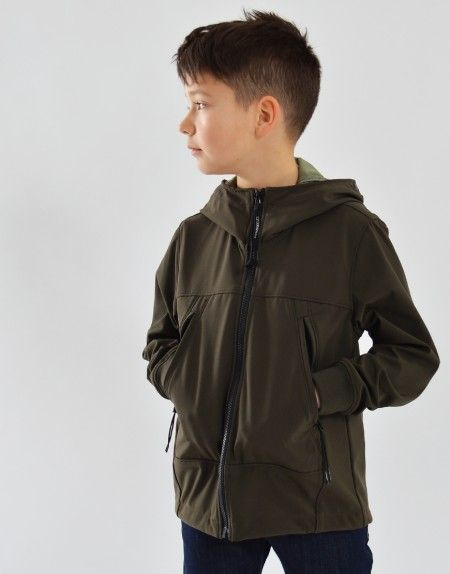 a4c3426d1d C.P. Company Kids Soft Shell Jacket Moss Green | Terraces Junior ...