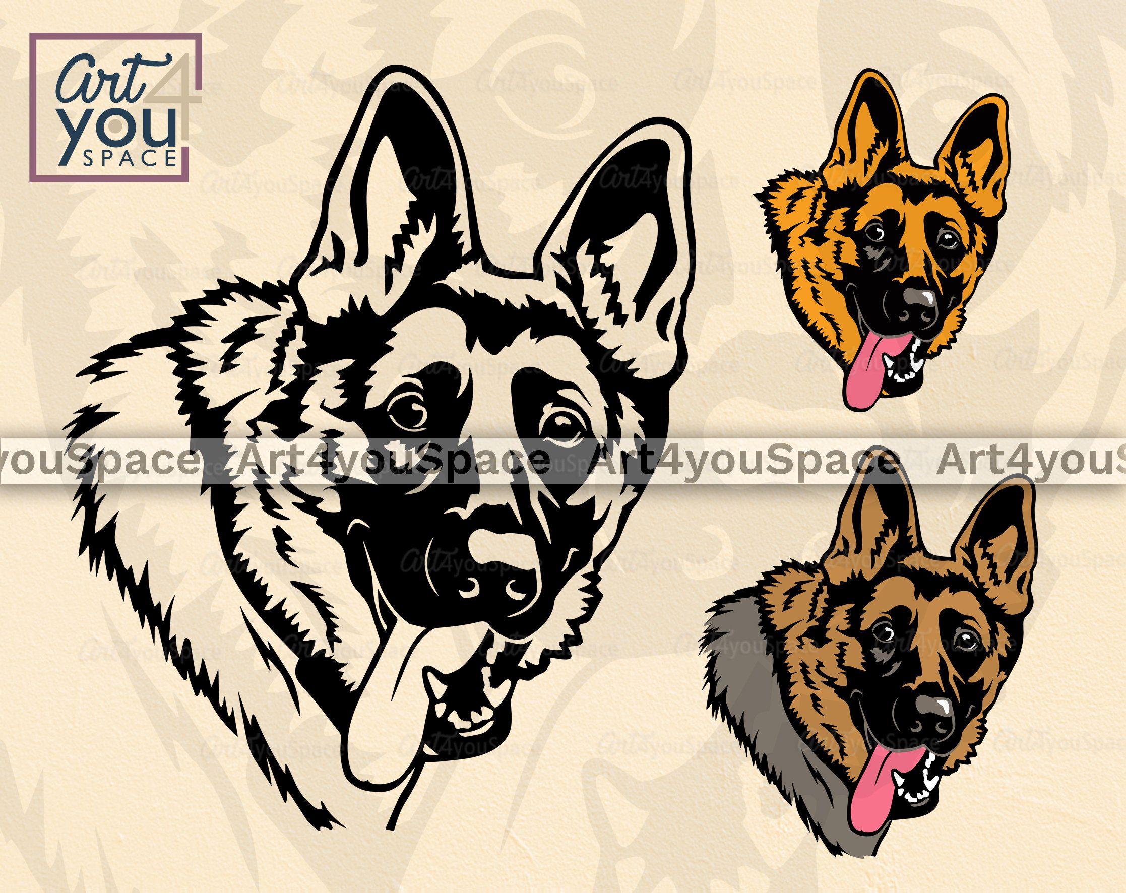 German Shepherd Line Art Image Transparent Png German Shepherd Dogs Dog Design Line Art Images