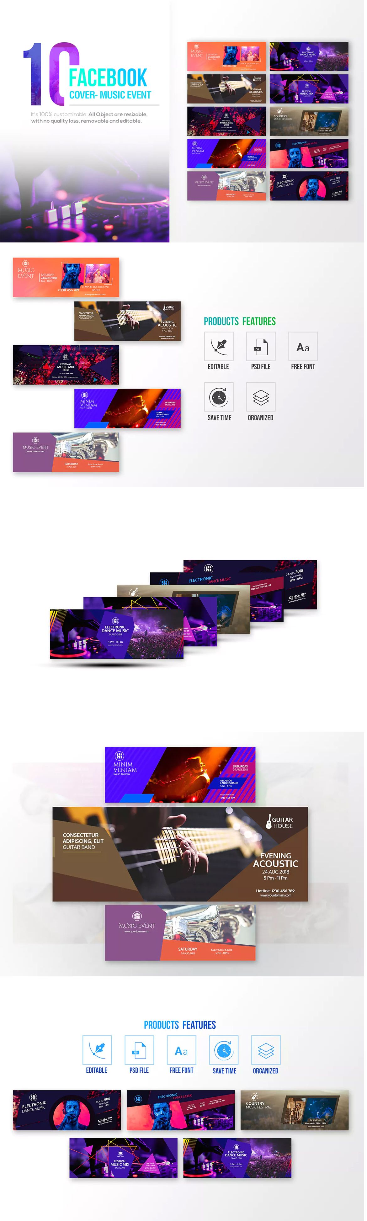 10 Facebook Cover - Music Event Template PSD | Facebook Cover ...