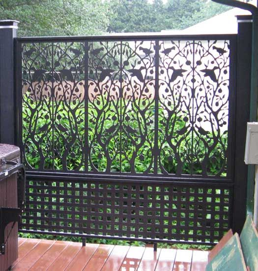 Create An Outdoor Screen Room Divider Using Diffe Patterns Of Affordable Pvc Lattice Search Vinyl Decor Panels At Home Depot To Find A Great