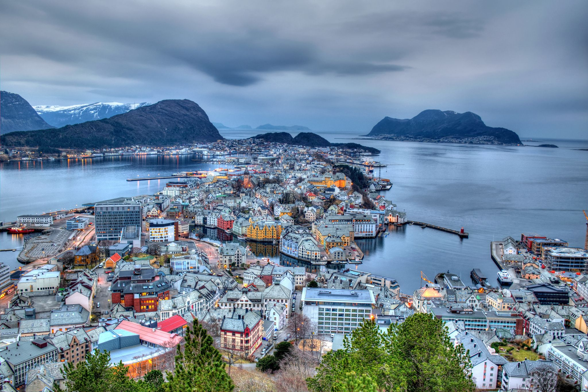 Photo City of Alesund in Norway by Péter Mocsonoky on 500px