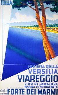 Forte Dei Marmi Poster Retro Della Spiaggia Della Versilia Forte