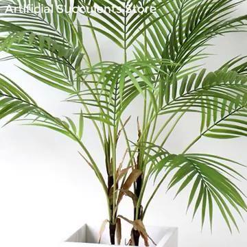DIY Home Decorations Palm Leaf Plastic Plants Garden